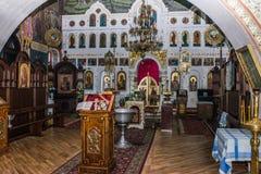 Interior en la iglesia Foto de archivo