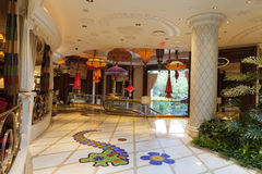 Interior en Las Vegas, nanovoltio del hotel de Wynn el 2 de agosto de 2013 Foto de archivo