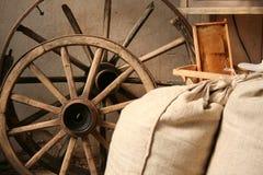 Interior en molino viejo Imagen de archivo libre de regalías