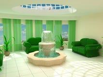Interior en springbrunn Royaltyfri Bild