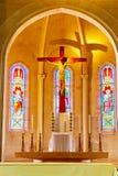 Interior en templo Foto de archivo libre de regalías