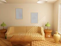 Interior en tonos ligeros Imagen de archivo libre de regalías