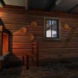 Interior en un hogar del registro Fotos de archivo libres de regalías