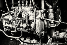 Interior Engine Block of a Large Industrial Machine Stock Image