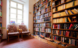 Interior of the english-language bookstore Royalty Free Stock Images