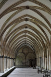 Interior of an English medieval cathedral Royalty Free Stock Images