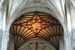 Interior of an English medieval cathedral Royalty Free Stock Photo
