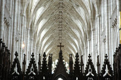 Interior of an English medieval cathedral Stock Images