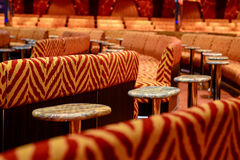 Interior entertainment of a cruise ship stock images