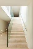 Interior, escalera de mármol Imágenes de archivo libres de regalías