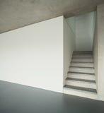Interior, escalera del granito Fotos de archivo