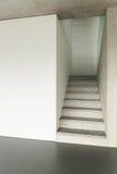 Interior, escalera del granito Imagen de archivo