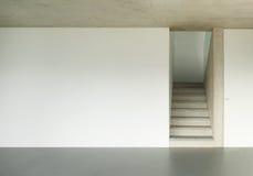 Interior, escalera del granito Foto de archivo libre de regalías