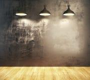 Interior escuro do grunge Fotografia de Stock Royalty Free