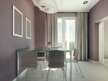 Interior espaçoso da sala de jantar Foto de Stock Royalty Free