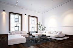 Interior espaçoso da sala de visitas no apartamento moderno Fotografia de Stock Royalty Free