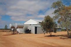 Interior estación del ganado Fotos de archivo