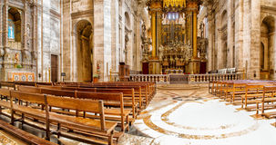 Interior of the Estrela Basilica in Lisbon, Portugal Royalty Free Stock Images