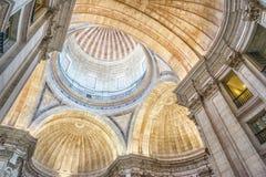 Interior of the Estrela Basilica in Lisbon, Portugal Royalty Free Stock Photos