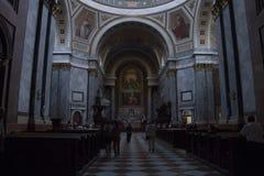 Interior of Esztergom Basilica, Esztergon, Hungary - 8, 2017. Interior photo of Esztergom Basilica stock image