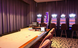 Interior of european casino Royalty Free Stock Photo