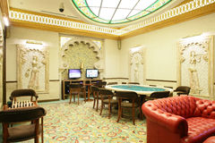Interior of european casino Stock Photos