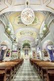 Interior europeu da igreja Foto de Stock Royalty Free