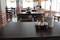 Interior europeu do restaurante. Fotos de Stock Royalty Free