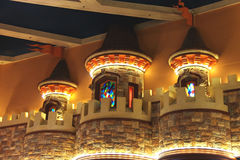 Interior the Excalibur Hotel and Casino in Las Vegas. Royalty Free Stock Photo