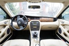 Interior of exclusive car Royalty Free Stock Photo