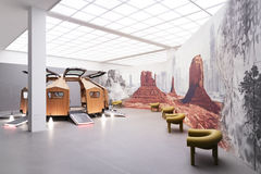 Interior Exhibit of the Pinakotheke Der Moderne Stock Photography