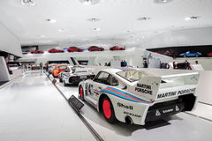Interior Exhibits of Porsche Museum Racecars Stock Photos