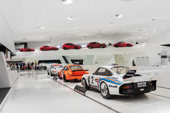 Interior Exhibits of Porsche Museum Racecars Royalty Free Stock Photo
