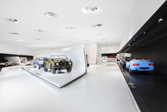 Interior Exhibits of Porsche Museum Racecars Royalty Free Stock Image
