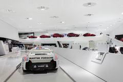 Interior Exhibits of Porsche Museum Racecars Royalty Free Stock Images