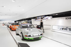 Interior Exhibits of Porsche Museum Racecars Stock Photography