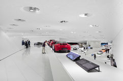 Interior Exhibits of Porsche Museum Royalty Free Stock Photo