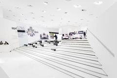 Interior Exhibits of Porsche Museum Stock Photography