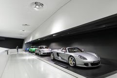 Interior Exhibits of Porsche Museum Stock Photo