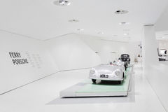 Interior Exhibits of Porsche Museum Royalty Free Stock Photos