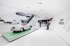 Interior Exhibits of Porsche Museum Stock Image