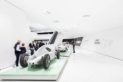 Interior Exhibits of Porsche Museum Stock Images