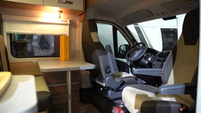 The Interior Of Expensive Campers A Large Fair Luxury Motorhome Caravanning Motoring