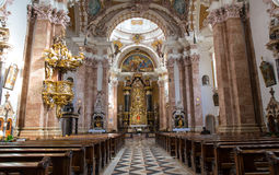 Interior exquisito de la iglesia, Wieskirche - Steingaden, Alemania Fotos de archivo
