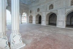 Interior and exterior elements of Agra Fort Stock Photography