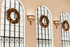 Denver, CO / USA: Editorial Shots of Union Train Station During Christmas Holiday Season royalty free stock images