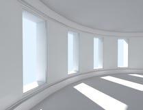 interior för arkitektur 3d Royaltyfria Bilder