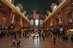Interior för central terminal för NYC storslagen arkivfoto