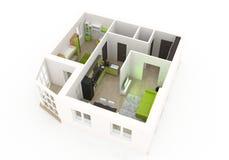 interior för design 3d Royaltyfri Foto