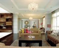 interior för områdesdesignfamilj Arkivfoto